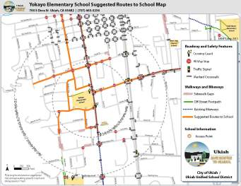 Ukiah Safe Routes To School Helping Make Walking Biking To - Map your walking route